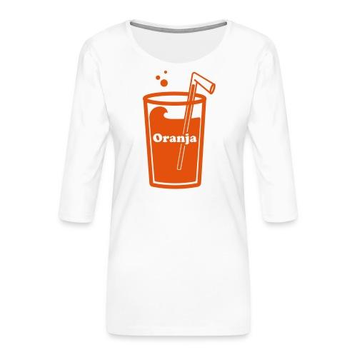 Oranja - Vrouwen premium shirt 3/4-mouw