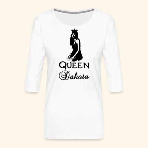 Queen Dakota - Women's Premium 3/4-Sleeve T-Shirt