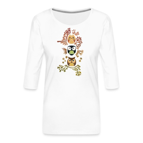 Good Wise Owls - Frauen Premium 3/4-Arm Shirt