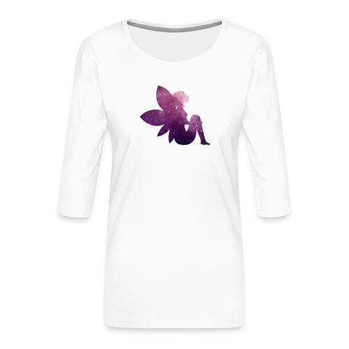 Purple fairy - Premium T-skjorte med 3/4 erme for kvinner
