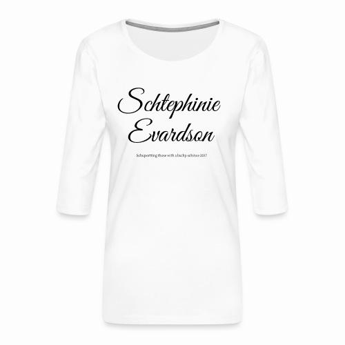 Schtephinie Evardson Lisp Awareness - Women's Premium 3/4-Sleeve T-Shirt