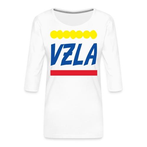 vzla 01 - Camiseta premium de manga 3/4 para mujer