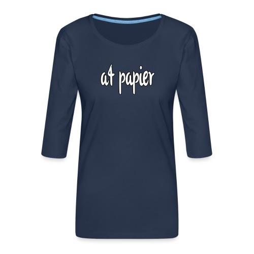 A4Papier - Vrouwen premium shirt 3/4-mouw