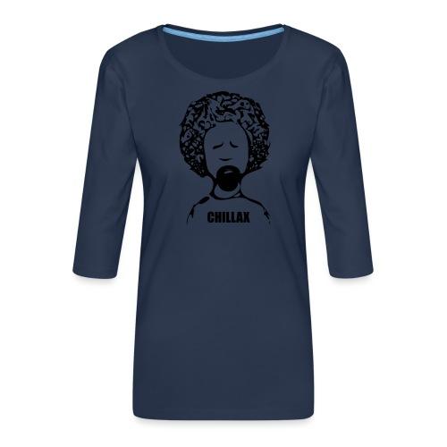 Chillax - Women's Premium 3/4-Sleeve T-Shirt