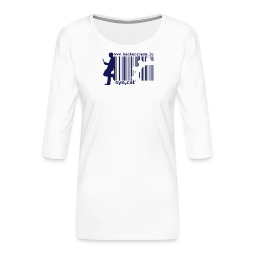 syn2cat hackerspace - Women's Premium 3/4-Sleeve T-Shirt