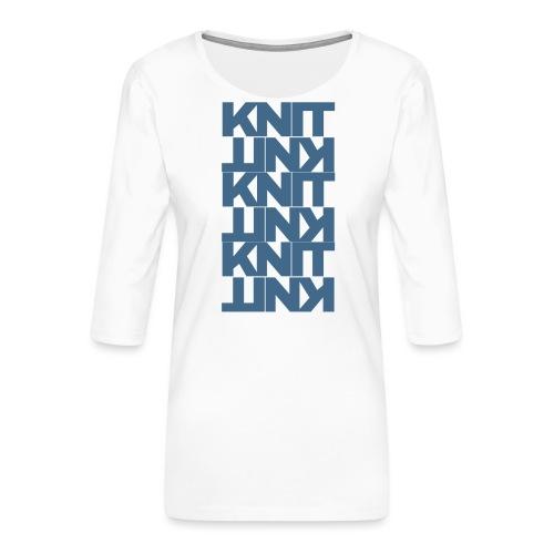 Garter Stitch, dark - Women's Premium 3/4-Sleeve T-Shirt
