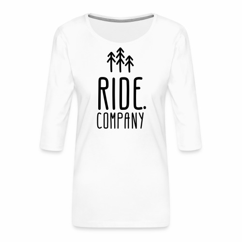 RIDE.company Logo - Frauen Premium 3/4-Arm Shirt