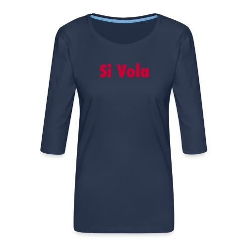 SiVola - Maglietta da donna premium con manica a 3/4
