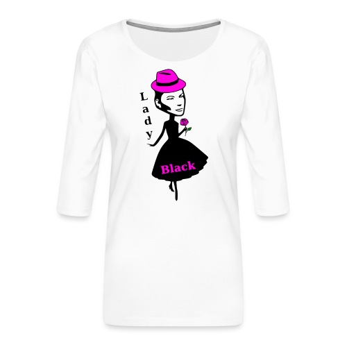 Lady Black Pink - Frauen Premium 3/4-Arm Shirt