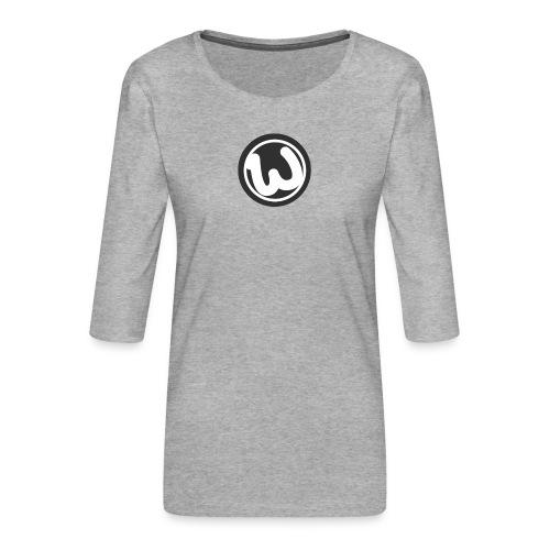 Wooshy Logo - Women's Premium 3/4-Sleeve T-Shirt