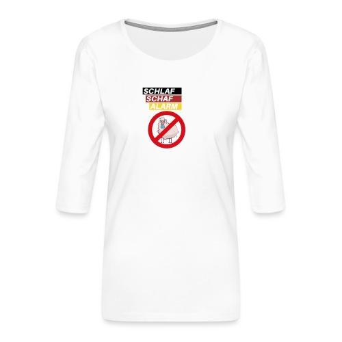 Schlaf-Schaf-Alarm - Frauen Premium 3/4-Arm Shirt