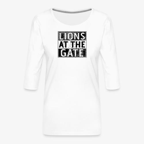 LIONS AT THE GATE BAND LOGO - Vrouwen premium shirt 3/4-mouw