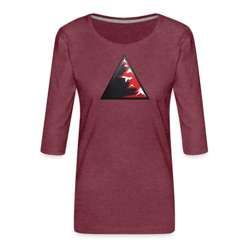 Climb high as a mountains to achieve high - Women's Premium 3/4-Sleeve T-Shirt
