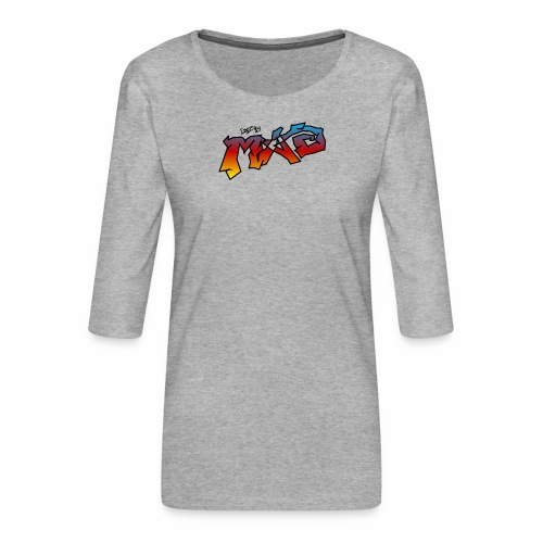 Life Is MAD CGI Makeover TM collaboration - Women's Premium 3/4-Sleeve T-Shirt