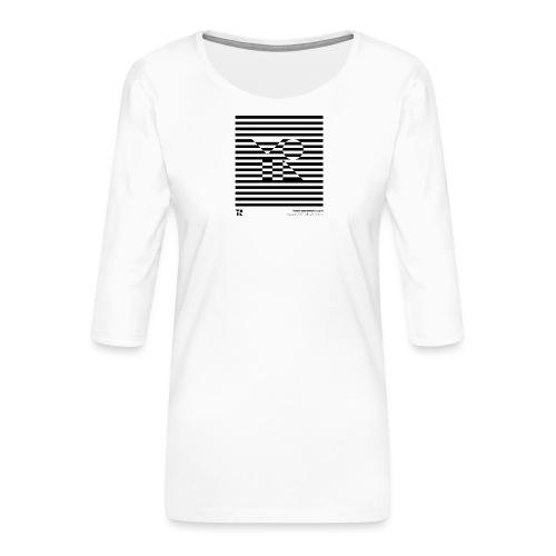 mnmlocked - Maglietta da donna premium con manica a 3/4
