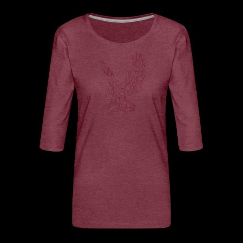 Eagle circuit - Dame Premium shirt med 3/4-ærmer