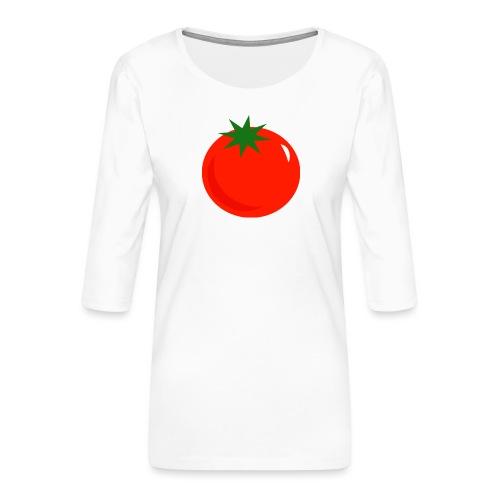 Tomate - Camiseta premium de manga 3/4 para mujer