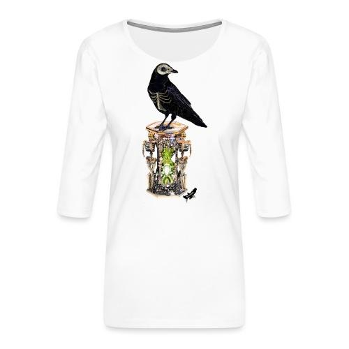 'Memento Mori' by BlackenedMoonArts - Dame Premium shirt med 3/4-ærmer