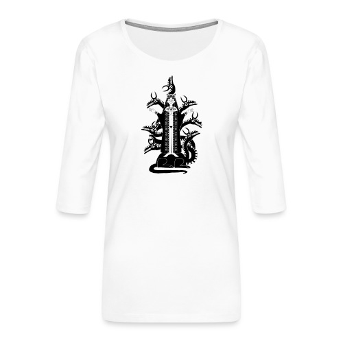 Babylone La grande - T-shirt Premium manches 3/4 Femme