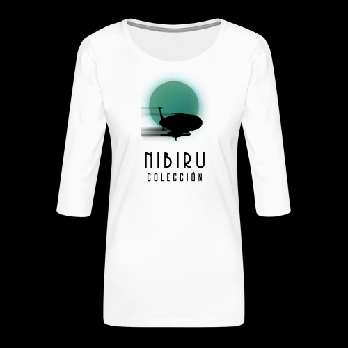 NibiruLogo - Camiseta premium de manga 3/4 para mujer