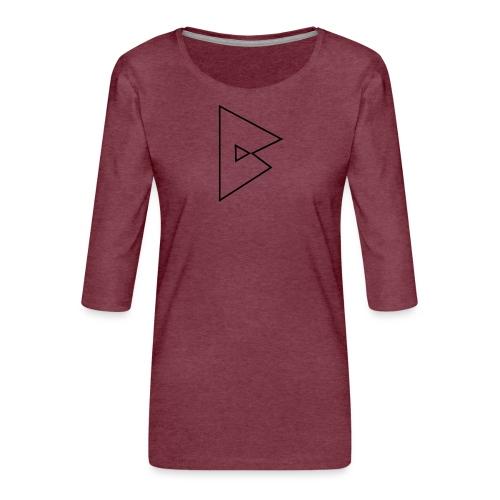 dstrbng official logo - Women's Premium 3/4-Sleeve T-Shirt
