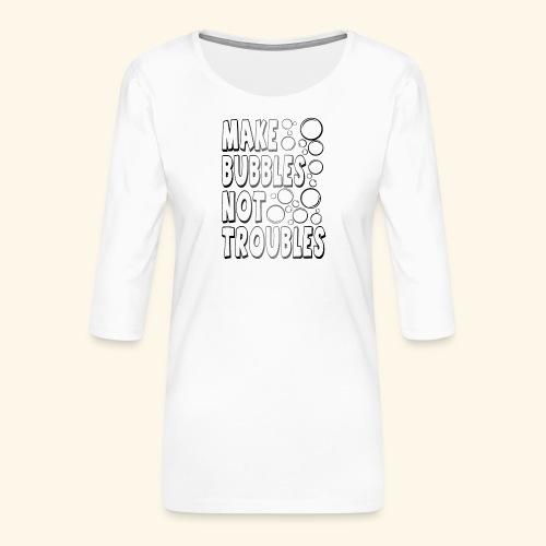 Bubbles002 - Vrouwen premium shirt 3/4-mouw