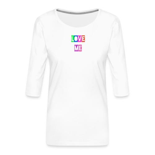 LoveMe - Camiseta premium de manga 3/4 para mujer