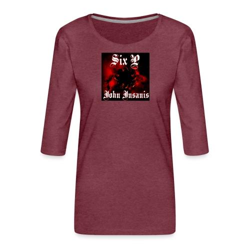 Six P John Insanis T-Paita - Naisten premium 3/4-hihainen paita