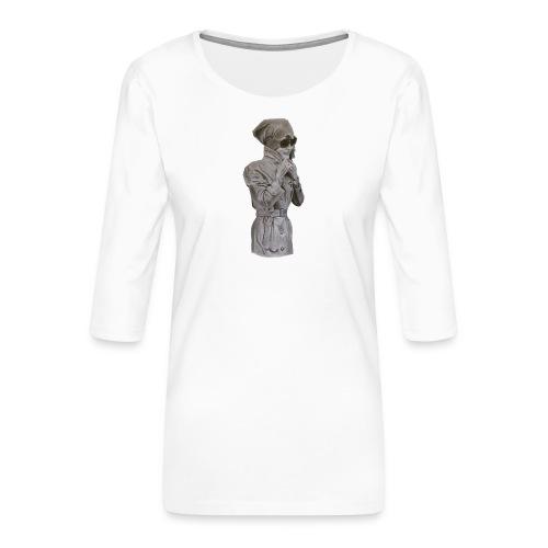 Colección Jackie sin fondo - Camiseta premium de manga 3/4 para mujer