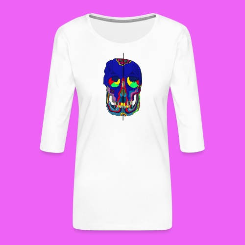 craneos 2 - Camiseta premium de manga 3/4 para mujer