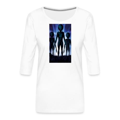 Alien 👽 - Frauen Premium 3/4-Arm Shirt