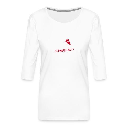 Schnabel auf gegen Hetzer und Rassisten - Frauen Premium 3/4-Arm Shirt