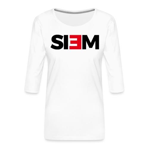siem_zwart - Vrouwen premium shirt 3/4-mouw