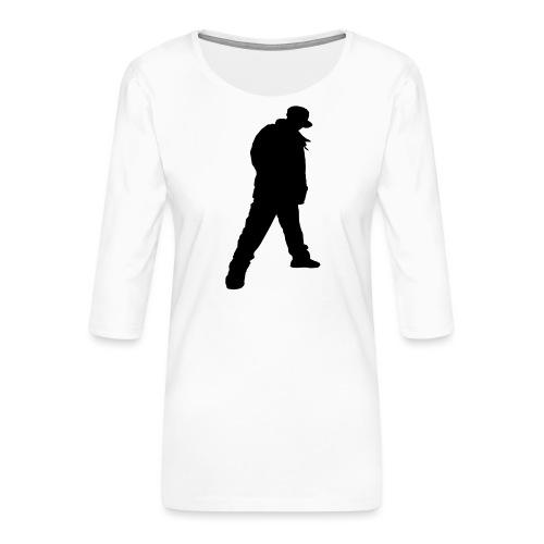 Soops B-Boy Beanie - Women's Premium 3/4-Sleeve T-Shirt
