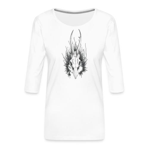 Schädelstruktur - Frauen Premium 3/4-Arm Shirt