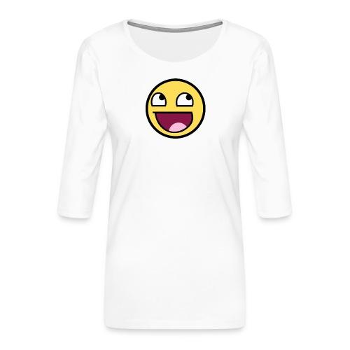 happiness t-shirt - Premium-T-shirt med 3/4-ärm dam