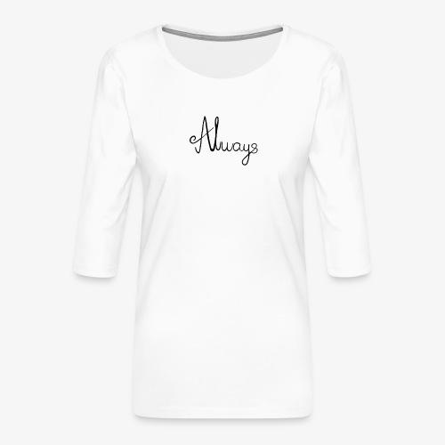 Always - Dame Premium shirt med 3/4-ærmer