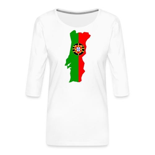 Portugal - Vrouwen premium shirt 3/4-mouw