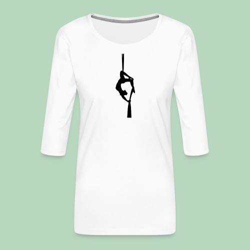 Aerial silk / Tissu - Vrouwen premium shirt 3/4-mouw
