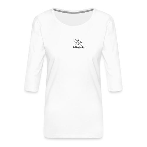 Tobias Design of Norway - Premium T-skjorte med 3/4 erme for kvinner