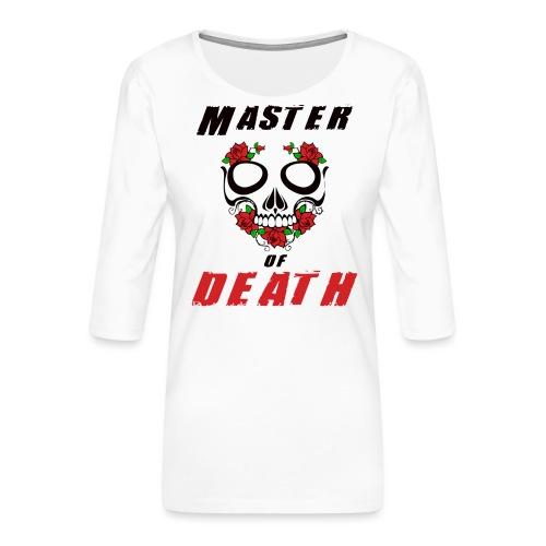 Master of death - black - Koszulka damska Premium z rękawem 3/4