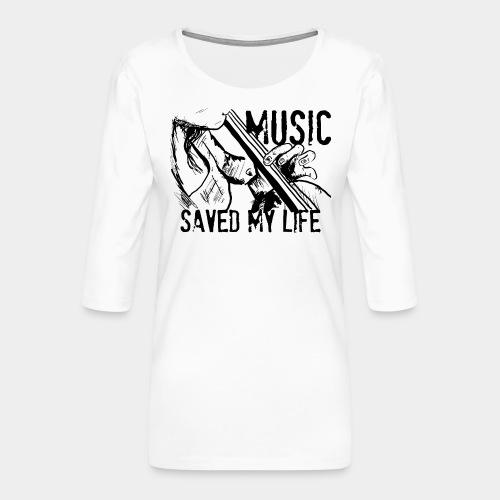music is live - T-shirt Premium manches 3/4 Femme