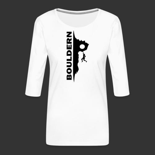 Bouldern - Frauen Premium 3/4-Arm Shirt