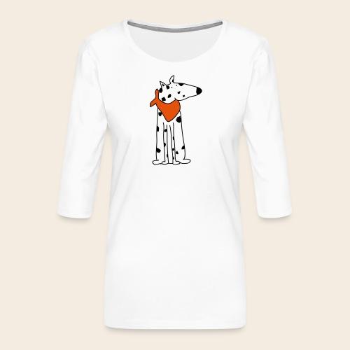 mignon dalmatien - T-shirt Premium manches 3/4 Femme