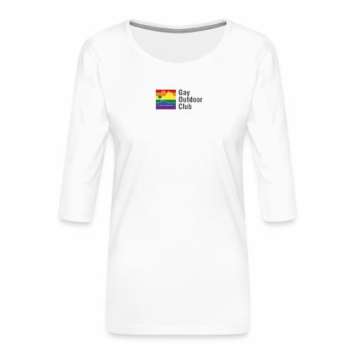 GOC Logo Black Text - Women's Premium 3/4-Sleeve T-Shirt