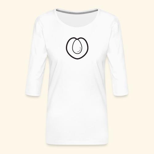 fruits and veggies icons peach 512 - Dame Premium shirt med 3/4-ærmer
