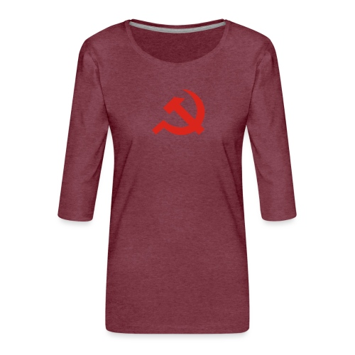 red Hammer and Sickle - T-shirt Premium manches 3/4 Femme