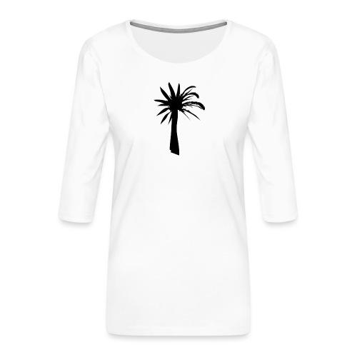 Palmera - Camiseta premium de manga 3/4 para mujer