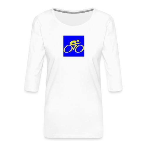 Tour de Epe Logo 2017 2018 2 png - Vrouwen premium shirt 3/4-mouw