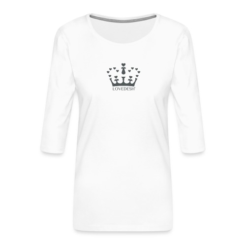 LD crown logo hearts png - Women's Premium 3/4-Sleeve T-Shirt